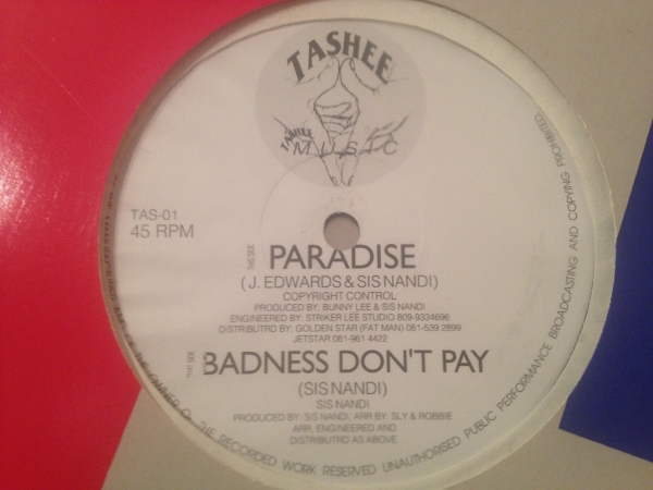 ★Sis Nandy/Badness Dont Pay★KILLER DIGI ROOTS!_画像1