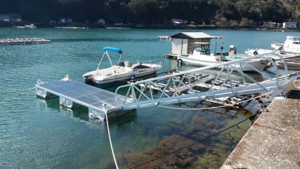 「クルーザー ボート 用簡易浮き桟橋 検)ポンツーン 台船 筏」の画像1