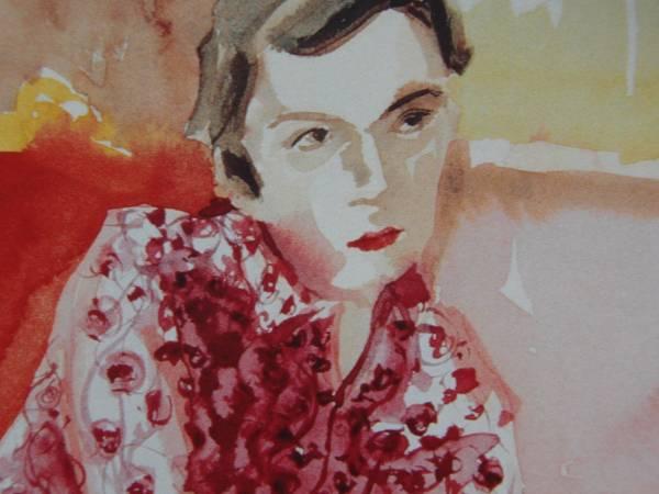 Elizabeth Peyton、Erian Epstein、希少画集画、新品額装付_画像2