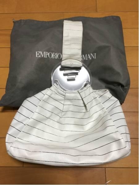 3000円 セール EMPORIO ARMANI エンポリオ アルマーニ ボーダーマリンバッグ_画像3