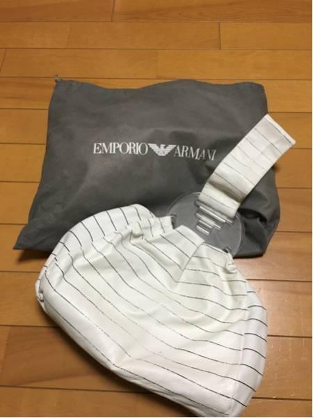 3000円 セール EMPORIO ARMANI エンポリオ アルマーニ ボーダーマリンバッグ_画像1