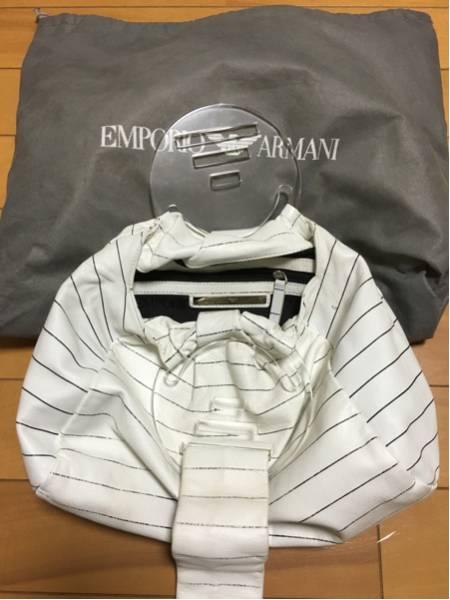 3000円 セール EMPORIO ARMANI エンポリオ アルマーニ ボーダーマリンバッグ_画像2
