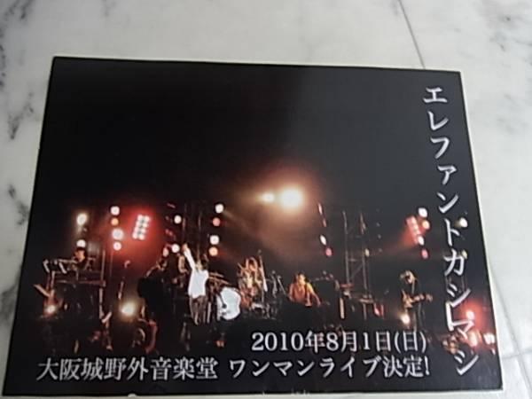 エレファントカシマシ♪2010年大阪城野音ワンマンライブのDM
