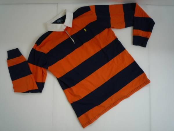 【お買い得!】 ■ ポロ / Polo ■ ポロシャツ 長袖 オレンジ 170 ボーダー