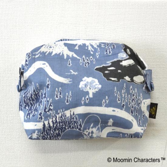 新品!ムーミン谷の冬 cocca コッカ ボタンポーチL 日本製 定価4860円 グッズの画像