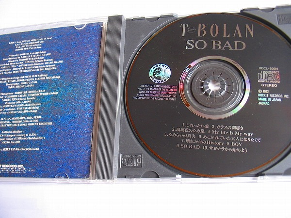 .【CD】T-BOLAN/SO BAD/じれったい愛/ガラスの刹那さ/ボーイ_画像2