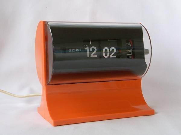SEIKO パタパタ時計 セイコー オレンジ (スペースエイジ_画像2