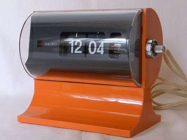 SEIKO パタパタ時計 セイコー オレンジ (スペースエイジ_画像1