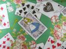 ◆不思議の国のアリス◆薔薇◆トランプ◆うさぎ◆猫ネコねこ◆緑◆ディズニー◆生地・布◆ハンドメイドに◆