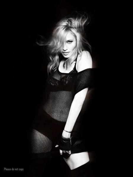 マドンナ Madonna モノクロ  アート フォト 大きなサイズの 写真