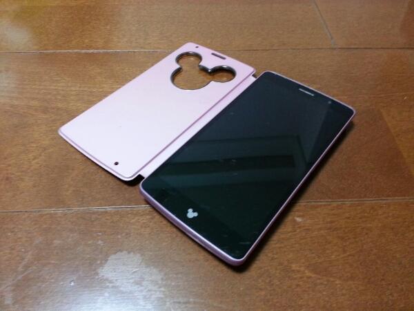 即落/即発!!美中古品 DM-01G Disney Mobile ピンク_画像1