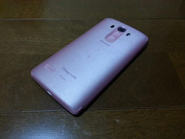 即落/即発!!美中古品 DM-01G Disney Mobile ピンク_画像2