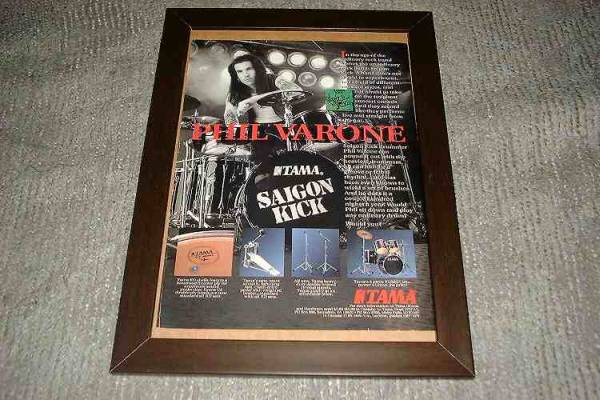 sigon kick サイゴンキック TAMA ドラム USA 広告