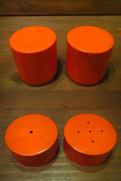 ビンテージ60's70's★ソルト&ペッパー橙★50's80'sレトロ雑貨卸_画像2