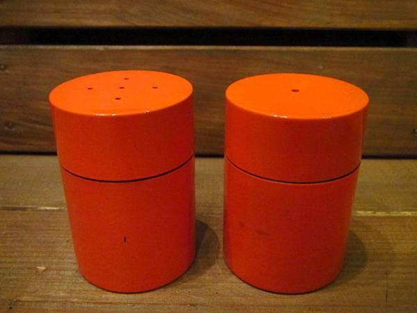 ビンテージ60's70's★ソルト&ペッパー橙★50's80'sレトロ雑貨卸_画像1