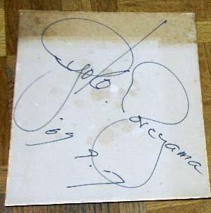 1969年 森山良子さんのサイン色紙  フォーク歌手