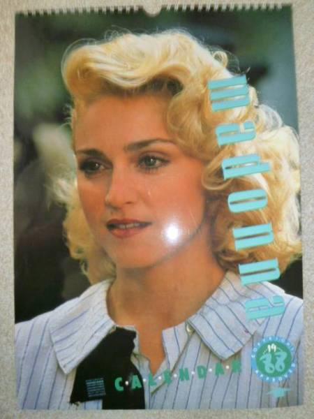 マドンナ MADONNA 1988年 カレンダー UK Culture Shock製 ライブグッズの画像