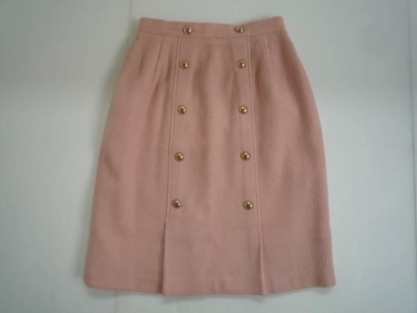 【お買い得!】 ■ CABIN ■ 台形スカート ピンク 膝丈 無地 M_画像1