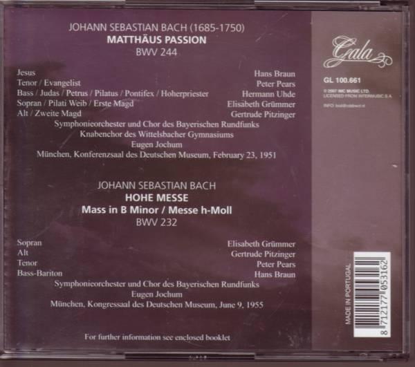 バッハ マタイ受難曲 ミサ曲 4CD ヨッフム バイエルン放送SO_画像2