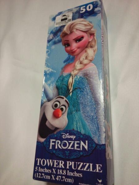 ディズニー アナと雪の女王 タワー パズル 12.7 x 47.7cm B  ディズニーグッズの画像