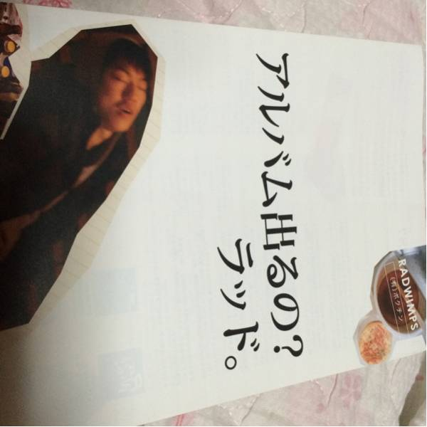 RADWIMPSラッドウインプス☆2009年リーフレット切手可