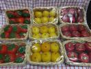 54ヶセット フルーツ型アロマキャンドル リンゴ イチゴ  アソート 未使用品 バスケット入