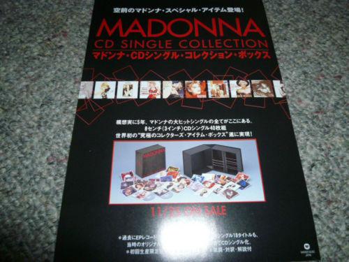 MADONNA マドンナ CD SINGLE COLLECTION 宣伝用告知チラシ