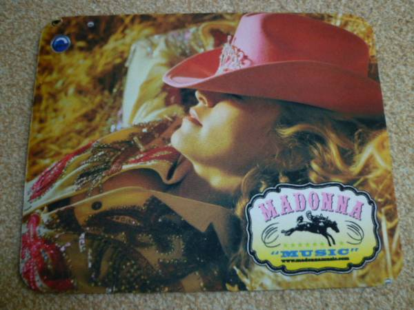 MADONNA マドンナ MUSIC オフィシャル品 マウスパッド ライブグッズの画像