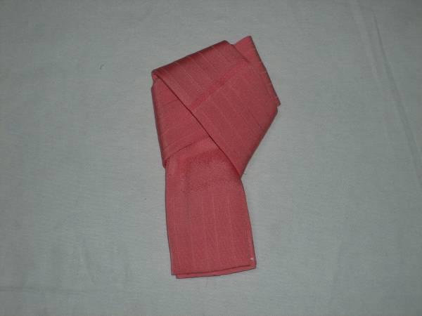 新品正絹、手作り仮紐、ピンク