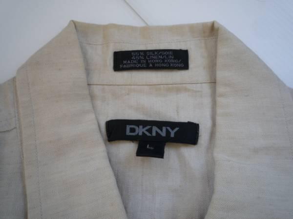 【お買い得!】 ● ダナキャラン / DKNY ● 半袖シャツ ライトベージュ L_画像3