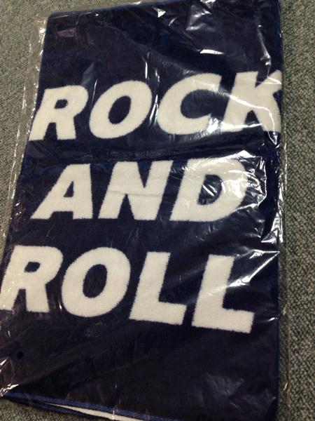 ROCK AND ROLL 2002 公式 タオル 紺 ネイビー 新品未開封