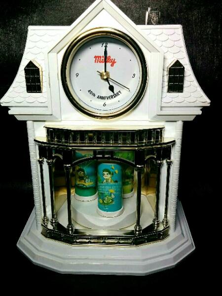 ミルキー*40周年記念 からくり時計 ペコちゃん 置き時計 非売品_画像1
