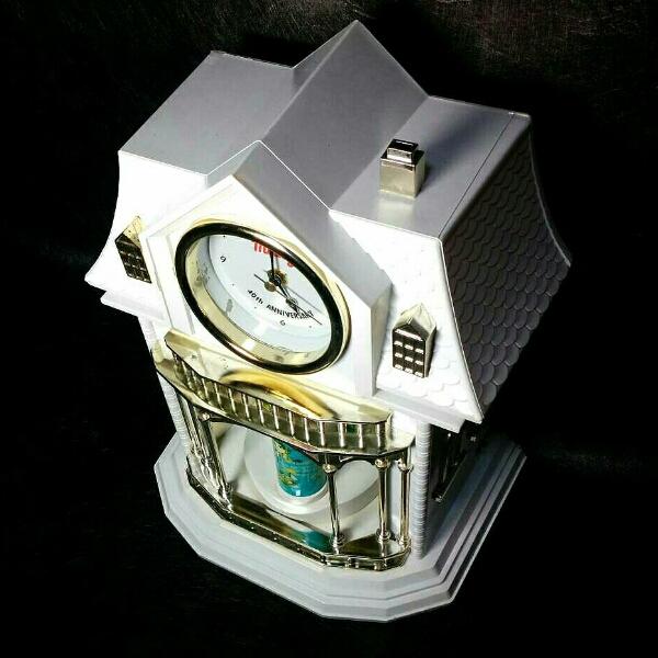 ミルキー*40周年記念 からくり時計 ペコちゃん 置き時計 非売品_画像2