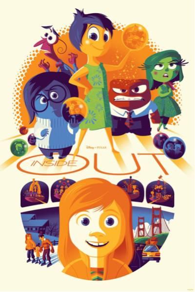 330枚限定 インサイドヘッド シルクスクリーン ポスター アート ディズニー ピクサー ディズニーグッズの画像