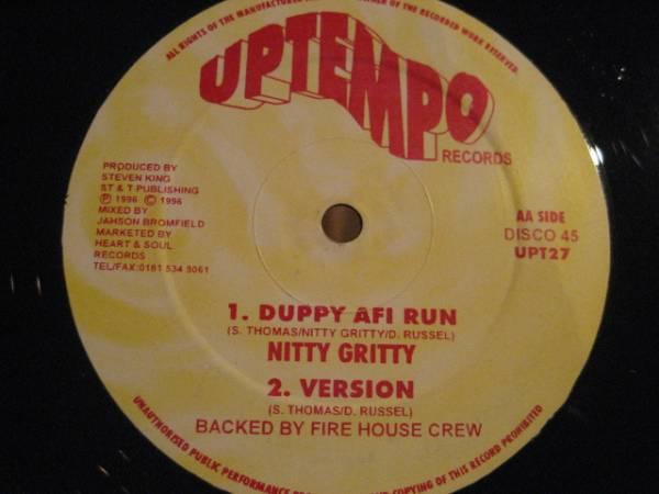 ★Nitty Gritty/Duppy Afi Fun★KILLER DIGITAL ROOTS!_画像1