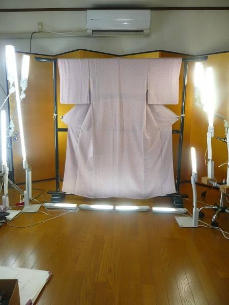 A_blz☆和装着物☆すずのき☆薄紫色の小紋☆着丈約153cm☆上品☆_画像3