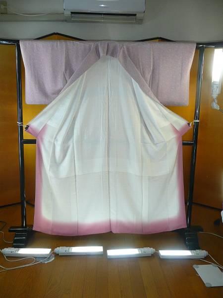 A_blz☆和装着物☆すずのき☆薄紫色の小紋☆着丈約153cm☆上品☆_画像2