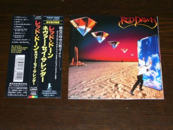 国内盤 帯付 レッド・ドーン /ネバー・セイ・サレンダー 全10曲 元RAINBOWディヴィッド・ローゼンタル(Key)
