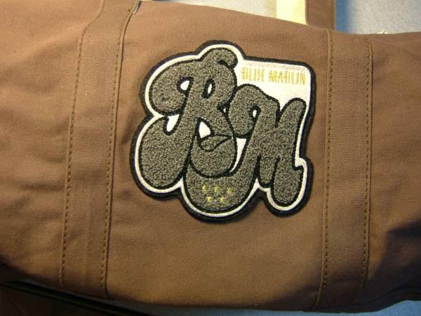 ブルーマリン☆ブラウンのボストンバッグ帆布製
