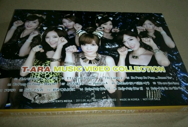 T-ARA GIVE YOU HAPPY&SMILE MUSIC VIDEO COLLECTION DVD 新品未開封 非売品 プロモ盤 公式 日本デビューグッズ Promo Only ティアラ_画像2