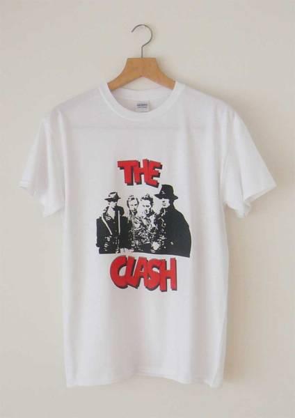 【新品】Clash 手刷り Tシャツ Sサイズ パンク ネオアコ ギターポップ バンドT