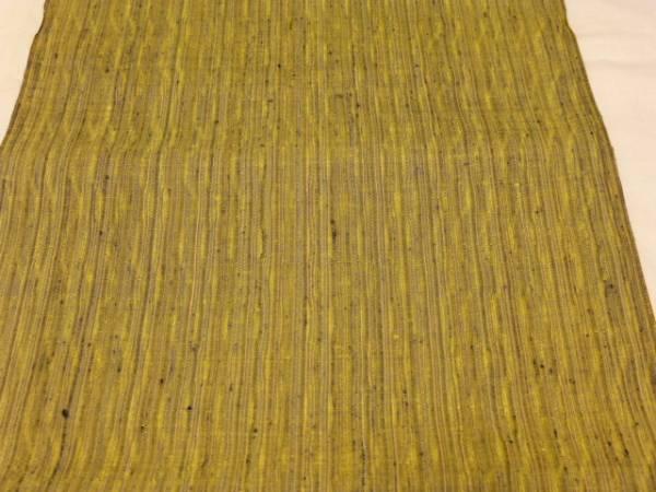 新品正絹反物★山形県米沢・新田織物紅花紬着尺★縞柄です_画像2
