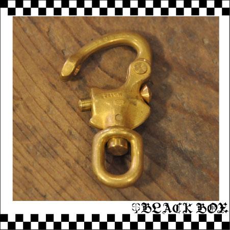 「solid brass 真鍮 無垢 生地 ソリッド ブラス スイベル スナップシャックル レザークラフト カラビナ イギリス UK GB ENGLAND 英国製 14」の画像2