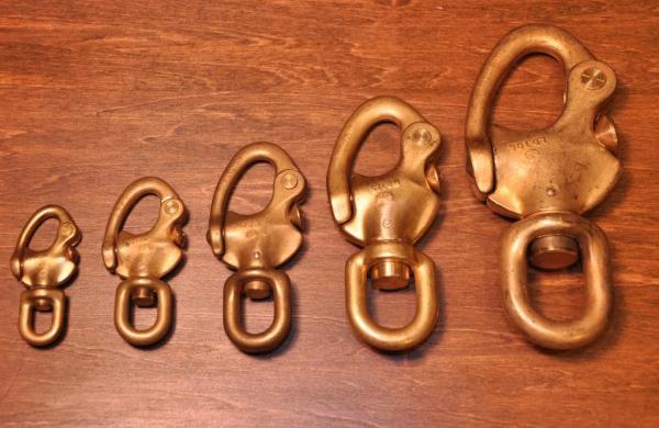 「solid brass 真鍮 無垢 生地 ソリッド ブラス スイベル スナップシャックル レザークラフト カラビナ イギリス UK GB ENGLAND 英国製 14」の画像3