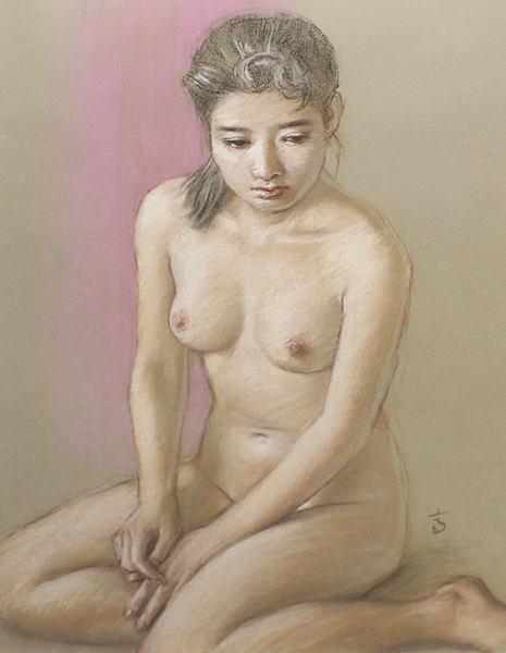 ¥真作保証¥高塚省吾10号裸婦美少女傑作☆国会議事堂所蔵画家_画像2