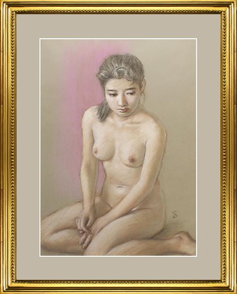 ¥真作保証¥高塚省吾10号裸婦美少女傑作☆国会議事堂所蔵画家