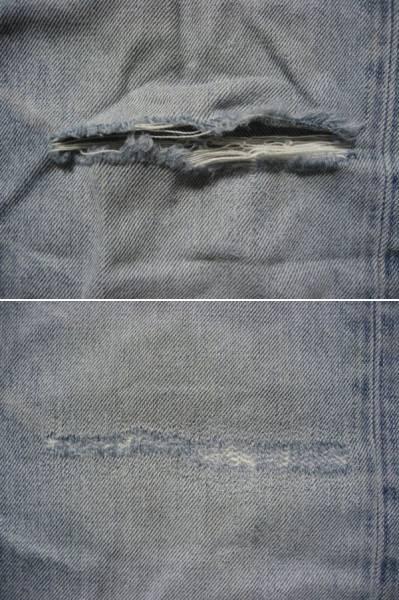 膝・太腿ダメージジーンズ修理/ファスナー交換/お手頃価格で承りますb_画像2