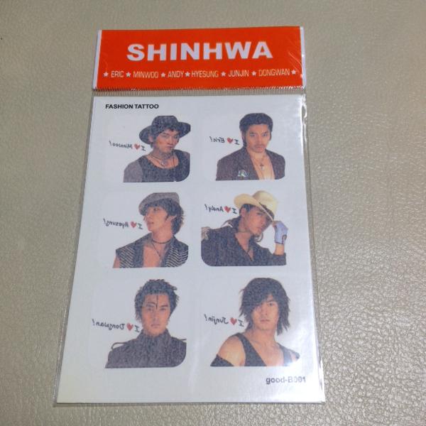 レア☆シンファ☆公式グッズ☆FASHION TATTOOシール☆Shinhwa