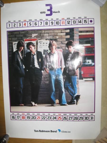 トム・ロビンソン・バンド 1979年カレンダー・ポスター 貴重