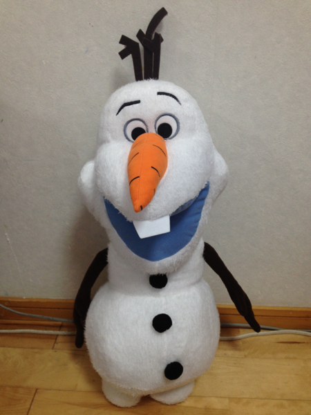 オラフマックスジャンボふわふわぬいぐるみアナと雪の女王 ディズニーグッズの画像